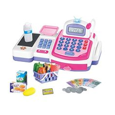 Joyzenith Pink Electronic Calculator Cash Register Toys Set *** To view further for this item, visit the image link.