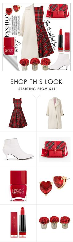 """""""Thanksgiving"""" by smriti4520 ❤ liked on Polyvore featuring Olympia Le-Tan, Miss Selfridge, Talbots, Nails Inc., Betsey Johnson, Max Factor and The French Bee"""