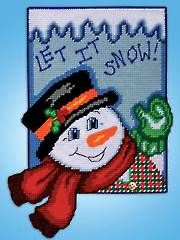 Holiday Plastic Canvas Patterns - Let It Snow Plastic Canvas Kit