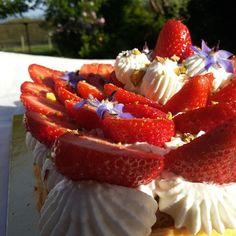 Tarte fraise pistache et fleur d'oranger - pâtisserie.news