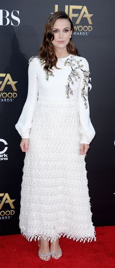Keira Knightley wore a dress from  Giambattista Valli to attend the Hollywood Film Awards in LA.