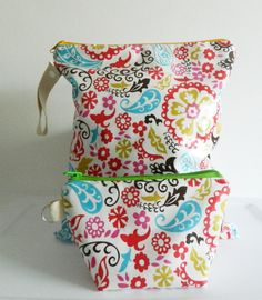 Wet Bag Set Floral and Paisleys or Customize your by LilTotWonder, $30.00