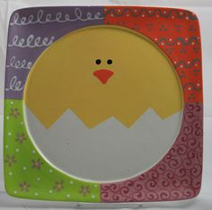 Making this on a simple round plate would make a great Mommy & Me project for pre-schoolers.