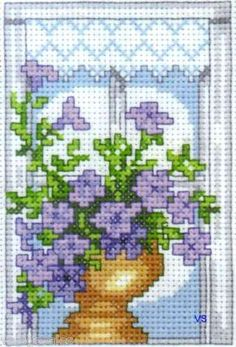 Permin of Copenhagen #crossstitch #PETUNIA ♥ #ebay #sale #flowers #summer #gift #home #decor #DIY #project #handcraft #handmade #needlework #stitching #craft #art