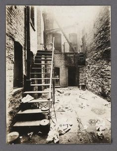 Airshaft with Boy on Stairs - Community Service Society Photographs Greenwich Village, Jessie, Community Service, Town And Country, United States, Portrait, World, Life, Stairs