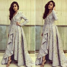 Fashion dresses - Most Stylish Papa Don't Preach Outfit Ideas for Sassy Brides & Bridesmaids – Fashion dresses Mode Abaya, Mode Hijab, Indian Designer Outfits, Designer Dresses, Stylish Dresses, Fashion Dresses, Indowestern Gowns, Party Kleidung, Indian Gowns Dresses
