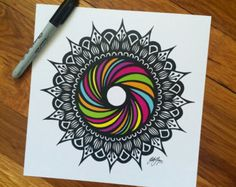 throwback to drawing famous rainbow bagel, if i can't taste it, i can draw it! Doodle Art Drawing, Mandala Drawing, Cool Art Drawings, Zentangle Drawings, Pencil Art Drawings, Art Drawings Sketches, Zentangles, Crazy Drawings, Mandala Art Lesson