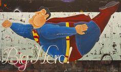 """Big Hero"" by artist Rock Therrien at Gallery Saint-Dizier in Montreal"