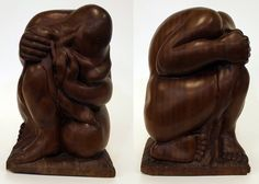 Ralph Hurst (American, 1918-2003) Girl Washing Her Hair, 1947 Mahogany, 17x12x12 in. Gift of Ralph N. Hurst. Born and educated in Indiana, but spent most of his life in Florida, including a 27-year tenure as Professor of Art at Florida State University. He taught ceramics, woodworking and art education, while concurrently his own work expanded far beyond those limitations. This piece, like many of his works, is a closed-form sculpture, meaning that the figure closes in on itself.