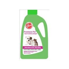 http://procarpetsupply.com/hoover-ah30120-premium-pet-carpet-upholstery-detergent-128-ounces/ Specially formulated with odor-fighting enzymes to clean up pet stains- making sure that your pets don't go back to the same spot. Your house will smell great after you clean!