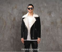 Mens Ac Shearling Aviator Jacket at Fabrixquare () - Svpply