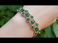Beaded bracelet/Beaded bicone bracelet/Diy Bracelet/Браслет из бисера и . Beaded Bracelets Tutorial, Beaded Bracelet Patterns, Beading Patterns, Diy Bracelet, Handmade Beads, Handmade Bracelets, Earrings Handmade, Bead Jewellery, Beads And Wire