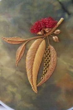 Hand Embroidery, Floral, Flowers, Plants, Jewelry, Jewlery, Jewerly, Schmuck, Jewels