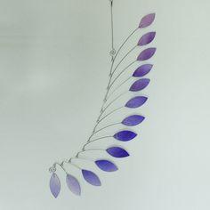 Mobile Art Lavender Wave  Hanging Kinetic Sculpture by skysetter, $75.00