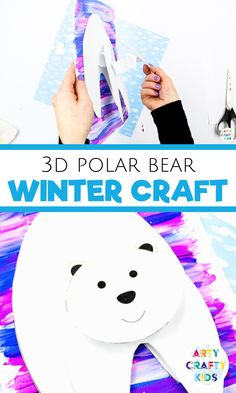 Looking for simple winter crafts for kids to make at school or at home? These polar bear winter crafts for kids are a must! Grab the printable polar bear craft template, plus step by step instructions for other easy crafts for kids to make here! Winter Crafts For Kids, Winter Kids, Crafts For Kids To Make, Kids Crafts, Easy Arts And Crafts, Arts And Crafts Projects, Creative Activities For Kids, Creative Kids, Bear Crafts