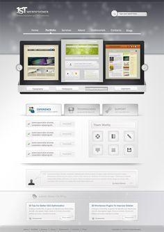 1st Photoshop Web Design Professional Layout Tutorial