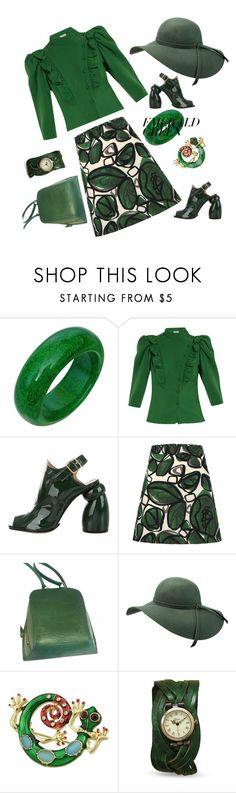 """R-Style"" by dressnow-online ❤ liked on Polyvore featuring Vika Gazinskaya, Dries Van Noten, Louis Vuitton and emeraldgreen"