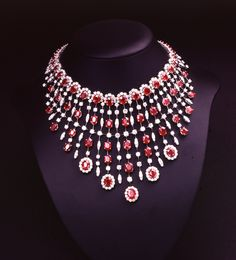 Royalty.  #Andreoli #FineJewelry #Ruby #Necklace #Diamonds #RoyaltyCollection #Royalty #Princess #Queen #AndreoliUSA www.Andreoliusa.com