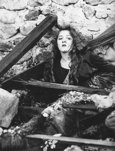 Angela (Mary Pickford) barely survives a German firing squad and a French bomb attack in The Little American (1917).