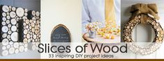 33 inspirational DIY sliced wood projects