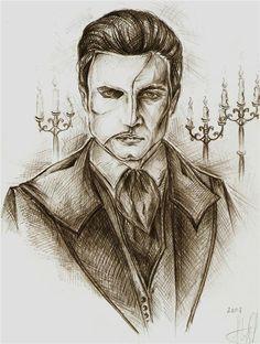 Opera Ghost by Ginger-snuffkin.deviantart.com on @deviantART - The Phantom of the Opera.