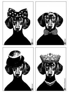 Lisa Bengtsson Postcard Set of 4