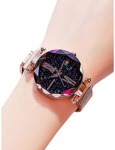 Women's Wrist Watch Gold Watch Quartz Black / Blue / Purple 30 m Water Resistant / Waterproof Creative Analog Ladies Casual Fashion Astronomical – Purple Blue Rose Gold 2019 – Rs. Stylish Watches For Girls, Trendy Watches, Watches For Men, Ladies Watches, Cheap Watches, Cool Watches, Latest Women Watches, Accesorios Casual, Swiss Army Watches