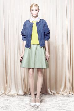 Alice + Olivia Spring 2014 Ready-to-Wear Collection Slideshow on Style.com Dolan- Indian denim bomber?