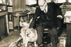 Sigmund Freud with his dog, Jofi