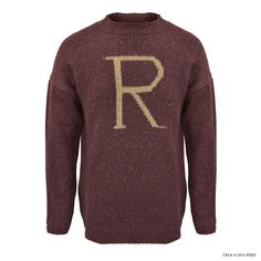 R' for Ron Weasley™ Knitted Jumper   Adults   Warner Bros Studio Tour London