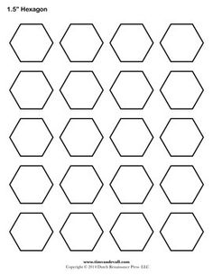 Printable hexagon templates for your creative craft or project. Can be used for decorations, stencils, labels and printable stickers. Hexagon Patchwork, Hexagon Pattern, Hexagon Quilt, Hexagon Shape, Millefiori Quilt Pattern, Millefiori Quilts, Printable Shapes, Templates Printable Free, Printable Stickers