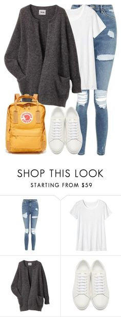 """""""Untitled #3031"""" by elenaday on Polyvore featuring Topshop, Toast, Acne Studios, Yves Saint Laurent and Fjällräven"""