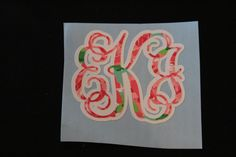 This listing is for a Personalized Lilly Pulitzer Inspired Double Layer Vine Monogram Decal DURING CHECKOUT PLEASE INCLUDE THE FOLLOWING INFORMATION 1) INITIALS- FIRST INITIAL/LAST INITIAL/ MIDDLE INITIAL **To insure correct monogram you might want to include your full name 2) The base color you would like **AKA the non-Lilly color ***I would highly recommend making this color white, but it is up to you ****If you have any questions about this part please message me, and if there ...