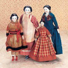 German Porcelain Dollhouse Dolls