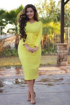 London Yellow Dress - Home & Women Mode Outfits, Girly Outfits, Dress Outfits, Casual Outfits, Teenage Outfits, Fashionable Outfits, Dress Clothes, Office Outfits, Pretty Outfits