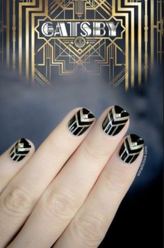 Gatsby Prom nails!! GORGEOUS!!!