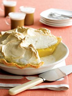 This classic pie recipe is topped with a mile-high meringue that's made with six egg whites--a few more than many recipes use. Perfect for the delicious tart lemon filling.