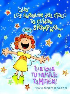 α JESUS NUESTRO SALVADOR Ω: Que los ángeles de Dios te cuiden siempre a tí y t...