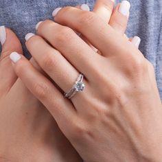 Aquamarine Engagement Ring | Diamond engagement ring with aquamarine | White gold ring with aquamarine stone / Aquamarine thin shank ring by One2ThreeJewelry on Etsy Jewelry Sites, Quality Diamonds, Bridal Sets, Or Rose, Natural Diamonds, Sterling Silver Rings, Wedding Bands, Gold Jewelry, White Gold