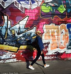 'Wassup': Australian actress, Margot Robbie enjoyed the sunshine in Toronto on Sunday, posting a snap from the Canadian city to her Instagram account