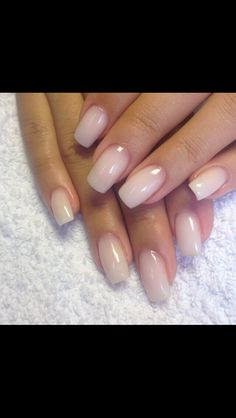 NAILS. Love this cream colored look