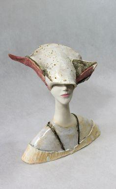Ceramic Sculpture , Fine Art Ceramic , Art Object , Handmade Clay Sculpture , Ceramic Art , Ceramic Figurine , Pottery , Ceramic Bust  by ImagoArtDesign