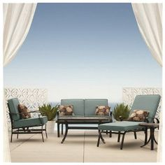 Threshold Hawthorne Metal Patio Furniture Collection Red Bath Pinterest Metal Patio