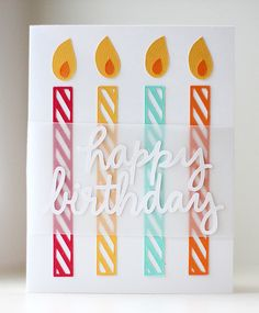 Silhouette America Blog | Colorful Birthday Candle Card