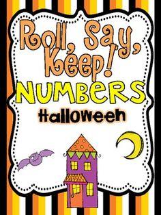Roll, Say Keep {Halloween Numbers}