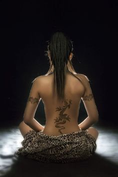 Image result for dragon back tattoo female
