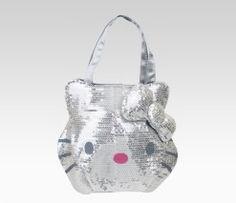 Hello Kitty Handbag: Silver Sequin