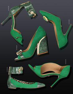 Verde Bandeira. Inverno 2014 LANÇA PERFUME Bag+Shoes