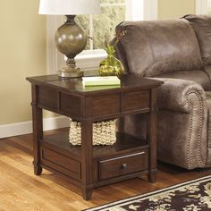 Signature Designs by Ashley Gately Medium Brown Rectangular End Table - Overstock Shopping - Great Deals on Signature Design by Ashley Coffee, Sofa & End Tables