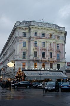 Cafe Landtmann, just across the street from Vienna's largest Christmas Market. Photo © 2012 Aaron Saunders